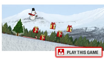 Snowman skiing game