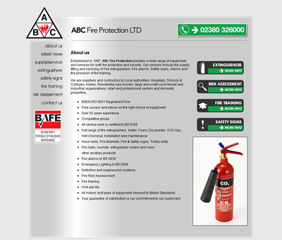 ABC Fire Protection Website Design